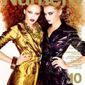 Edito : 'deception' with karmen pedaru & abbey lee kershaw by mariano vivanco for numero korea may issue