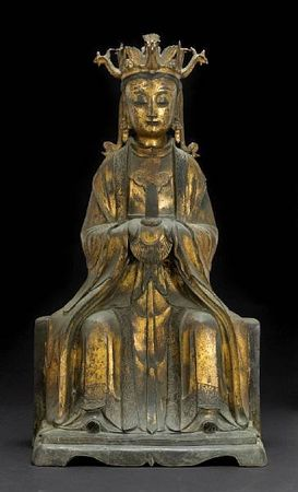 A_large_cast_bronze_figure_of_the_Bixia_Yuanjun