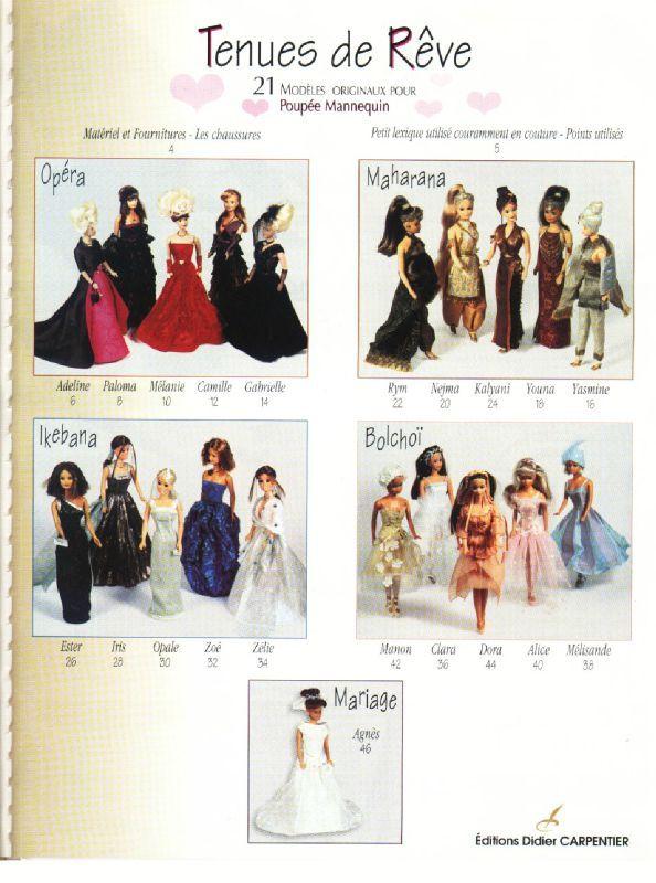modele couture pour barbie