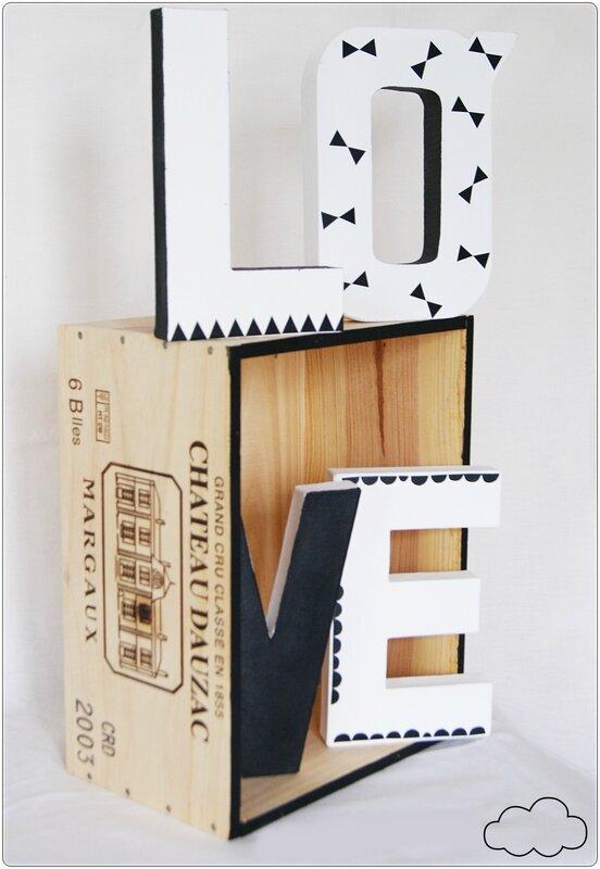 décoration lettre love