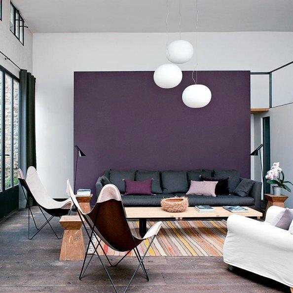 Du violet et gris pour une ambiance relaxante et spirituelle ou bien
