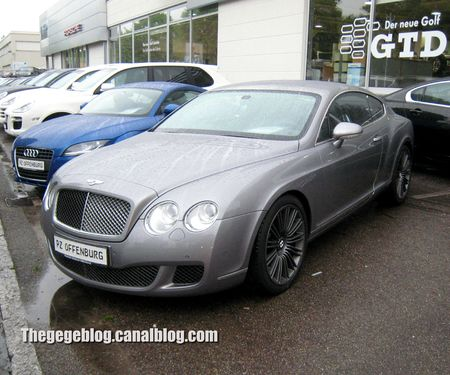 Bentley continental GT speed 6 coup de 2013 (Offenbourg) 01