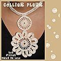 Tuto : collier fleur au crochet