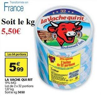 Auchan - La vache qui rit du 27 juillet au 2 août 2016
