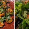 Crevettes sautées au curcuma et graines de moutarde