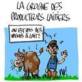 La grogne des producteurs laitiers