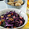 salade chou rouge aux pommes et au noix