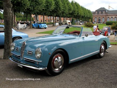 Alfa romeo 6C 2500 SS cabriolet de 1949 (9ème Classic Gala de Schwetzingen 2011) 01