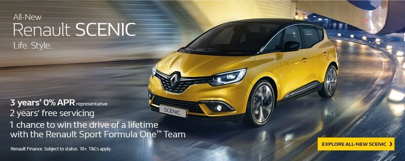 renault prêt scenic england
