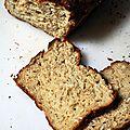 Pain à l'avoine* et au miel sans gluten (*avoine certifié sans gluten!)