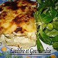 Lasagnes au chou blanc et mâche