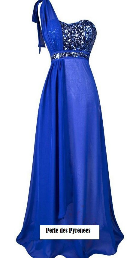 robe de soiree bleu electrique la mode des robes de france. Black Bedroom Furniture Sets. Home Design Ideas