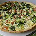Quiche au saumon § brocolis