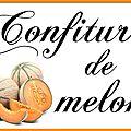 Etiquettes à confiture : melon