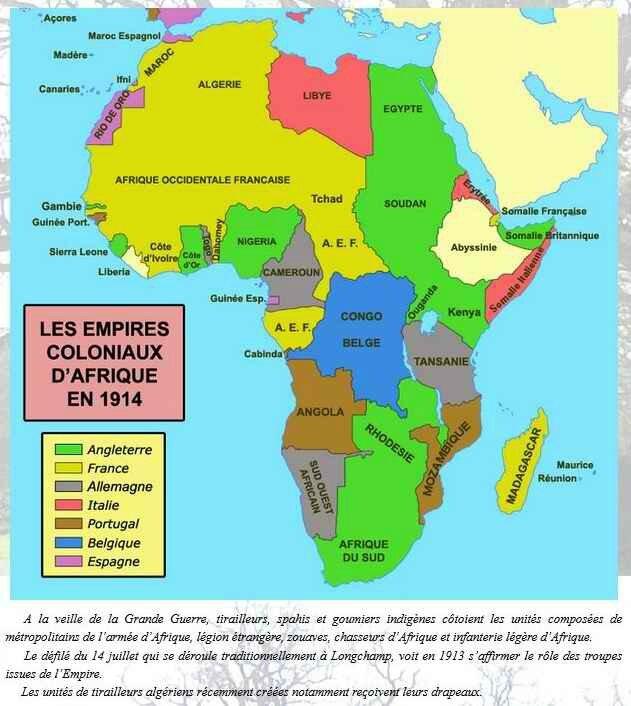 Afrique en 1913