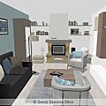 Projet client: relooking d'une pièce à vivre