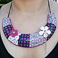 Bonjour, voici un nouveau collier fimo de la même
