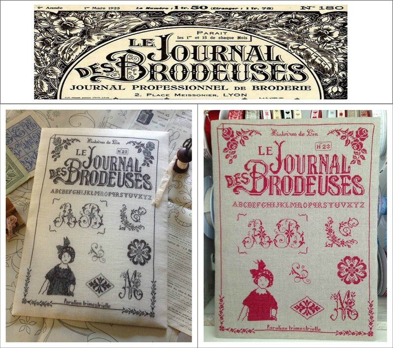 JOURNAL DES BRODEUSES 2 VERSIONS