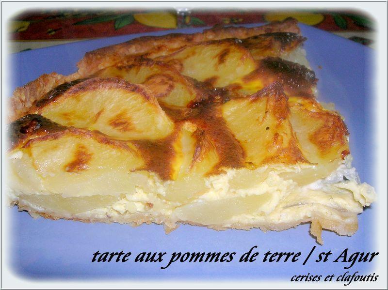 tarte aux pommes de terre et au chevre