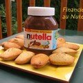FINANCIERS AUX NOISETTES, SURPRISE AU NUTELLA