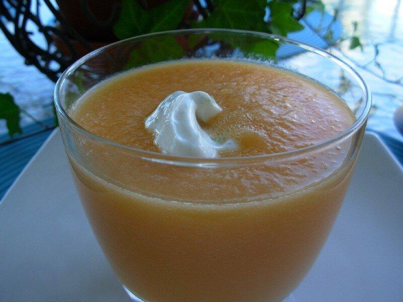 Soupe froide de cantaloup