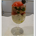 Verrine thon, fromage aux herbes