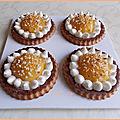 Tartelettes à la pomme & crème au citron vert