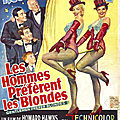 Les affiches de gentlemen prefer blondes