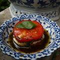 Entremets de tomates et chèvre frais