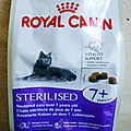 Croquettes royal canin sterilised 7+ vitality support pour chats
