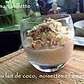 Riz au lait de coco, noisettes et amandes