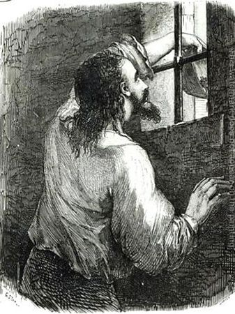 Edmond-Dantes-Imprisoned-In-The-Chateau-Dif,-Illustration-From-The-Count-Of-Monte-Cristo-By-Alexandre-Dumas-1802-70-After-1845