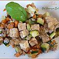 Tofu au vinaigre balsamique