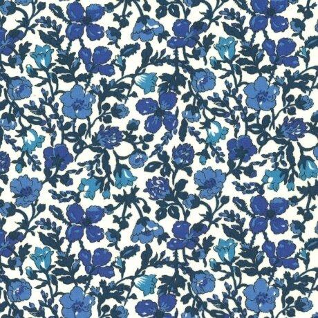 Tissu LIBERTY Meadow bleu