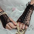 mitaines noire, gants de mariée, dentelle broderie amd a coudre (4)