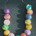collier perles fimo