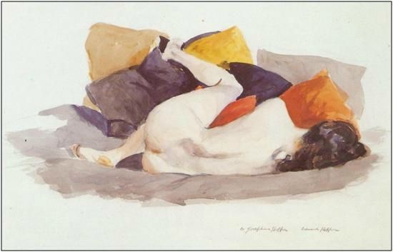 Reclining Nude 1924-1927 Hopper