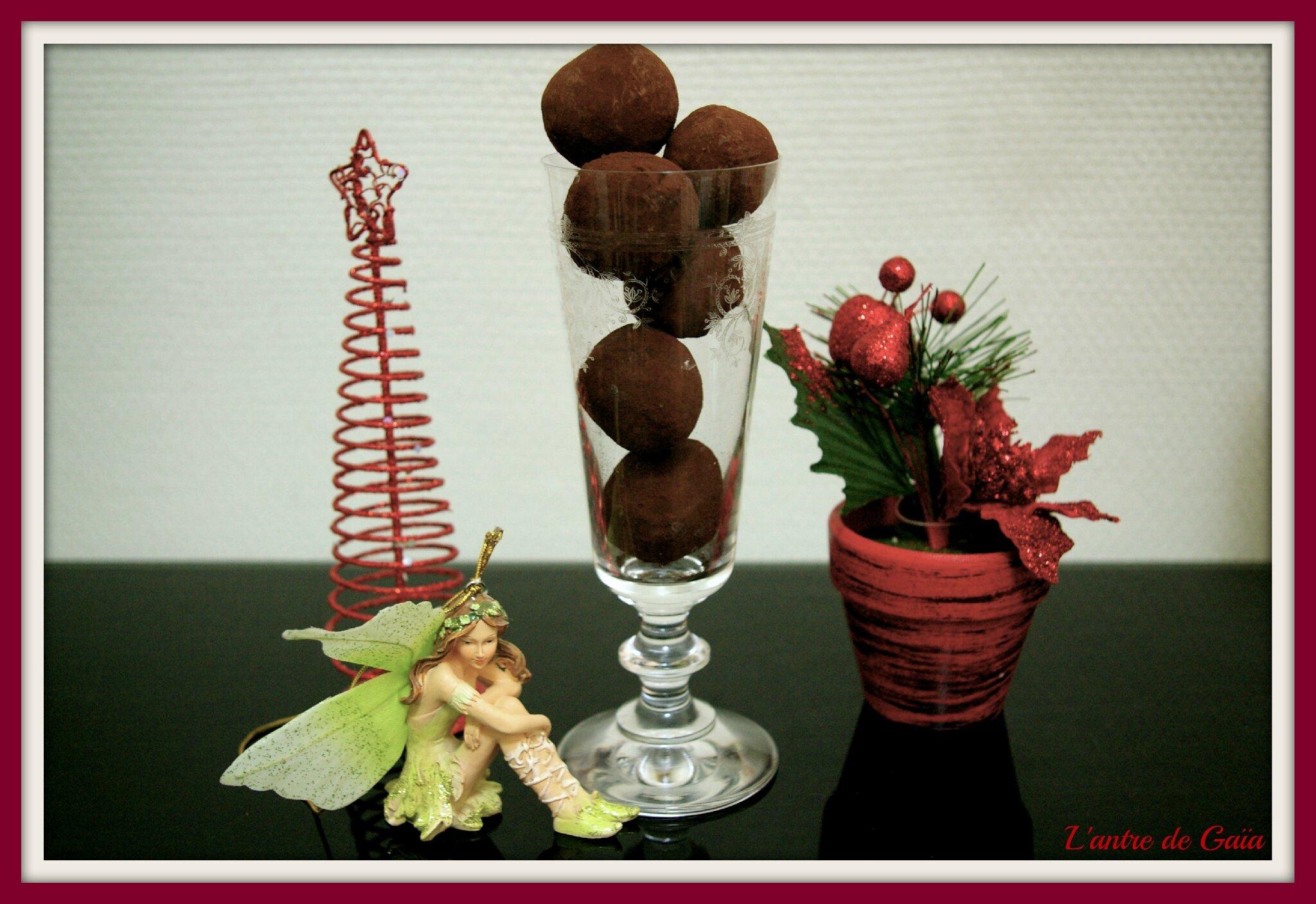 Recette de truffes au chocolat, effervescentes et moussantes pour un pur moment de détente.