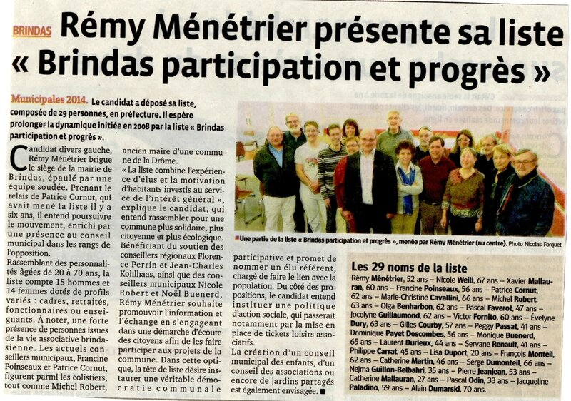 article BPP photo et liste 10 mars 2014