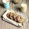 Cookies vegan sarrasin, noix et chocolat