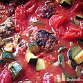 Boulettes improvisées, porc, boeuf et légumes