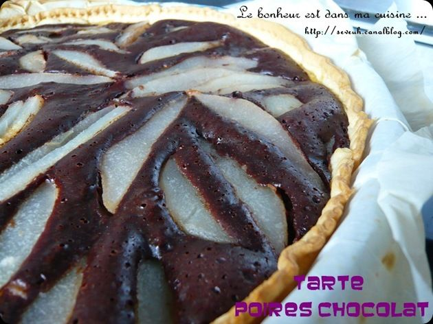 Tarte poires chocolat 1