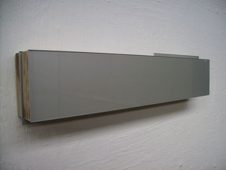 Archichrome_metallic_silver_10x50x6_cm__2008_glass__plywood___car_paint____1400