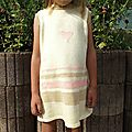 Robe fille taille 6 ans tricot pour l'hiver