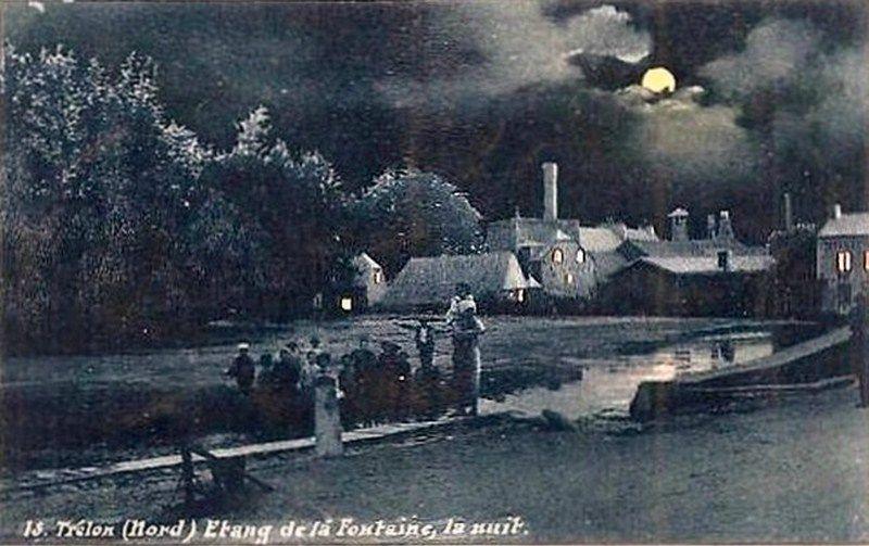 TRELON-Etang de la Fontaine la nuit