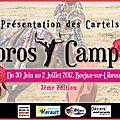 Toros y campo 2017 - présenttation des cartels -