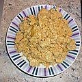 Crumble (sans beurre) aux trois poivrons