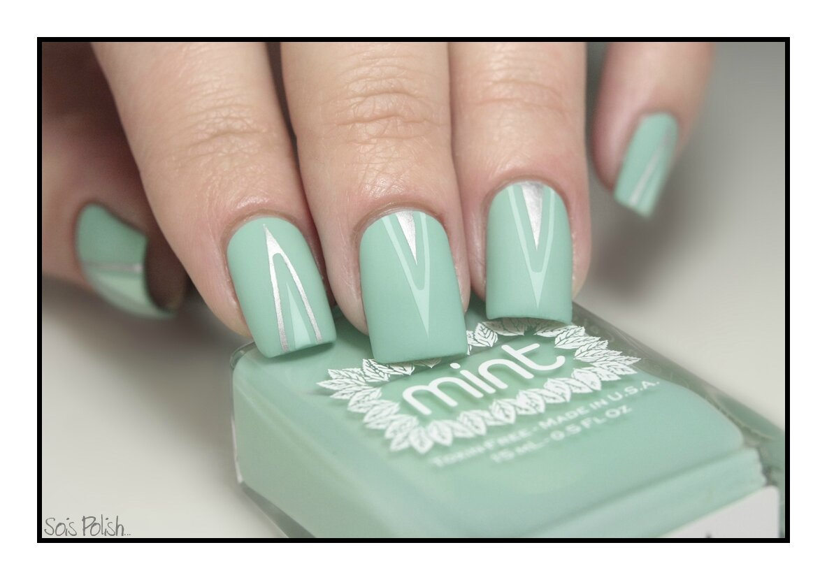 Mint Polish Picture Polish A England mat Striping Tape Sois Polish