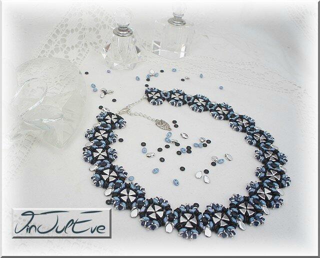 collier Cloz bleu marine argent 1