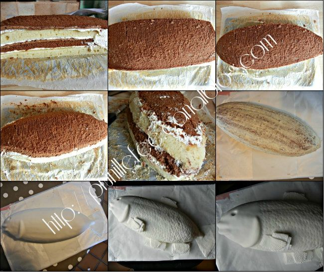 collage gateau poisson